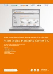 mpm Digital Marketing Center 3.0 - mpm - media process ...