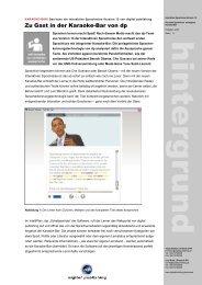 Hintergrundinfos als PDF-Datei zum Download - Digital Publishing