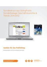 GoingPublic Sonderbeilage Geschäftsberichte & Trends 2011/2012