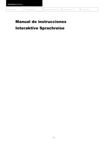 Manual de instrucciones Interaktive Sprachreise - Digital Publishing