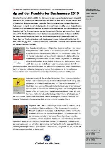 dp auf der Frankfurter Buchmesse 2010