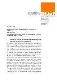 Referentenentwurf zum Gesetz zur Änderung des ... - DIJuF