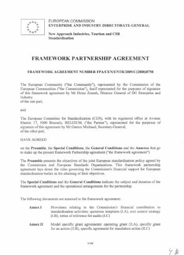 Annex Of The Framework Agreement On Comprehensive   - Fta