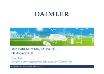 Vortrag Behr - DIN Deutsches Institut für Normung e.V.