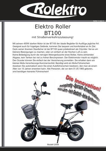 Elektro Roller BT100 - Dingden