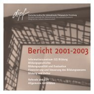 Bericht 2001-2003 - Deutsches Institut für Internationale ...