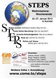 STEPS-Weltmissionswochenende Januar 2013 - Akademie für ...