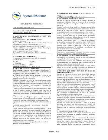 HDS CAPTAN 80 WP / NCh 2245 Página 1 de 2 - Afipa