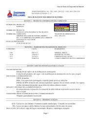 MSDS - Sherwin Williams