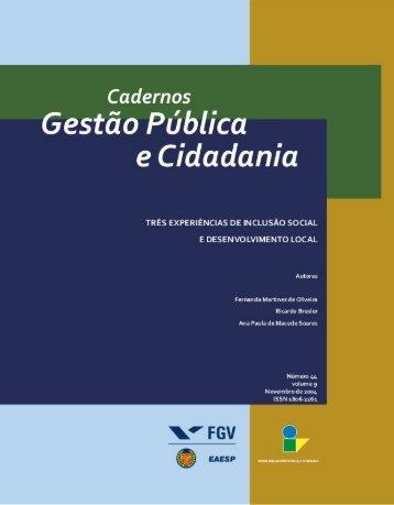 Cadernos Gestão Pública e Cidadania - FGV-Eaesp - Fundação ...