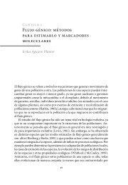 Flujo génico: métodos para estimarlo y marcadores moleculares