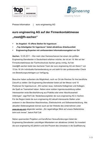 """euro engineering AG auf der Firmenkontaktmesse """"meet ... - DIS AG"""