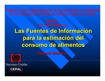 Las Fuentes de Información para la estimación del consumo ... - Cepal