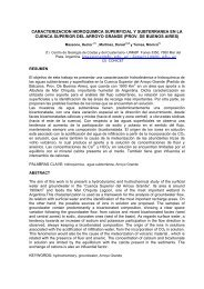 CARACTERIZACION HIDROQUIMICA SUPERFICIAL Y ...