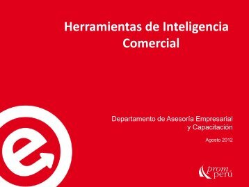 Herramientas de Inteligencia Comercial - Siicex