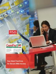 RSA Four Best Practices for Secure Web Access - Comprosec.ch