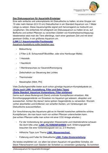 Das Diskusaquarium für Aquaristik-Einsteiger als PDF - Diskuszucht ...