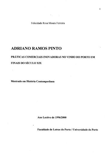 adriano ramos pinto - Repositório Aberto da Universidade do Porto