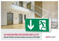 LED EINZELBATTERIE-NOTLEUCHTEN SERIE SLE/SLF - Sonepar