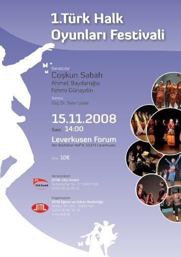 1.Türk Halk Oyunları Festivali - Ditib