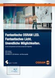 Fantastische OSRAM LED. Fantastisches Licht ... - Sonepar