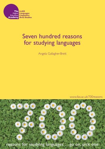 Seven hundred reasons for studying languages