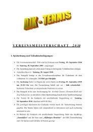 Ausschreibung VM - DJK Weiden-Abteilung Tennis