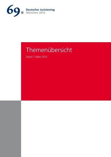 Themenübersicht - Deutscher Juristentag