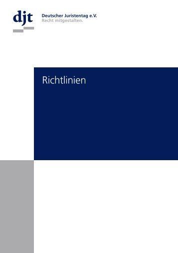 Richtlinien - Deutscher Juristentag