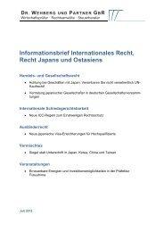 dr. wehberg und partner gbr - Deutsch-Japanischer-Wirtschaftskreis