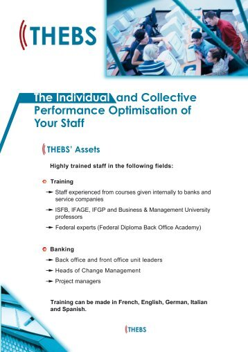 The Individual and Collective Performance ... - THEBS Consulting