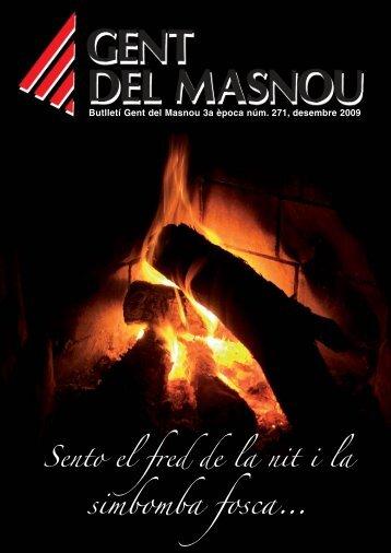 Butlletí nº 271, desembre 2009 - Gent del Masnou