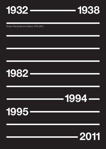Premis Nacionals de Cultura 1932-2011 - CoNCA Consell Nacional ...