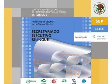 Secretariado ejecutivo bilingue.pdf - Secretaría de Educación Pública