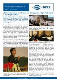 Ausgabe 3, November 2010 - DKRZ