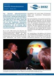 Ausgabe 2, Oktober 2010 - DKRZ