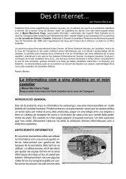 Des d'Internet...: La informàtica com a eina - Bordegassos de Vilanova