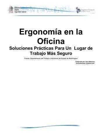 Ergonomía en la Oficina Soluciones Prácticas - Seguros Caracas