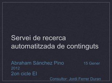 Servei de recerca automatitzada de continguts