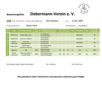 Dobermann-Verein e. V. - Dobermann-Uthleben