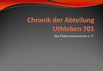 in Uthleben - Dobermann-Uthleben