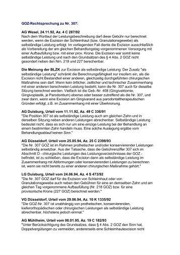 GOZ-Rechtsprechung zu Nr. 307.pdf - Doc-Kullmann