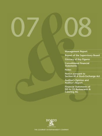 Management Report and Consolidated Financial ... - Do & Co
