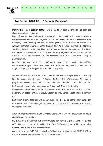 Top Caterer DO & CO - 5 Jahre München