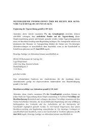 Informationen über die Rechte der Aktionäre (PDF 29KB - Do & Co