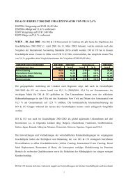 DO & CO ERZIELT 2001/2002 UMSATZZUWACHS VON PLUS 2,4 ...