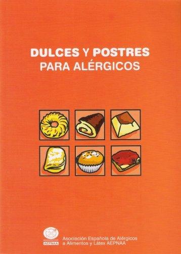 Dulces y Postres para Alérgicos - Asociación Española de Alérgicos ...