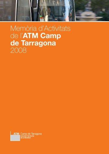 Memòria d'Activitats de l'ATM Camp de Tarragona 2008