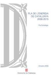PLA DE L'ENERGIA DE CATALUNYA 2006-2015 - Mcrit
