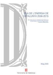 PLA DE L'ENERGIA DE CATALUNYA 2006-2015